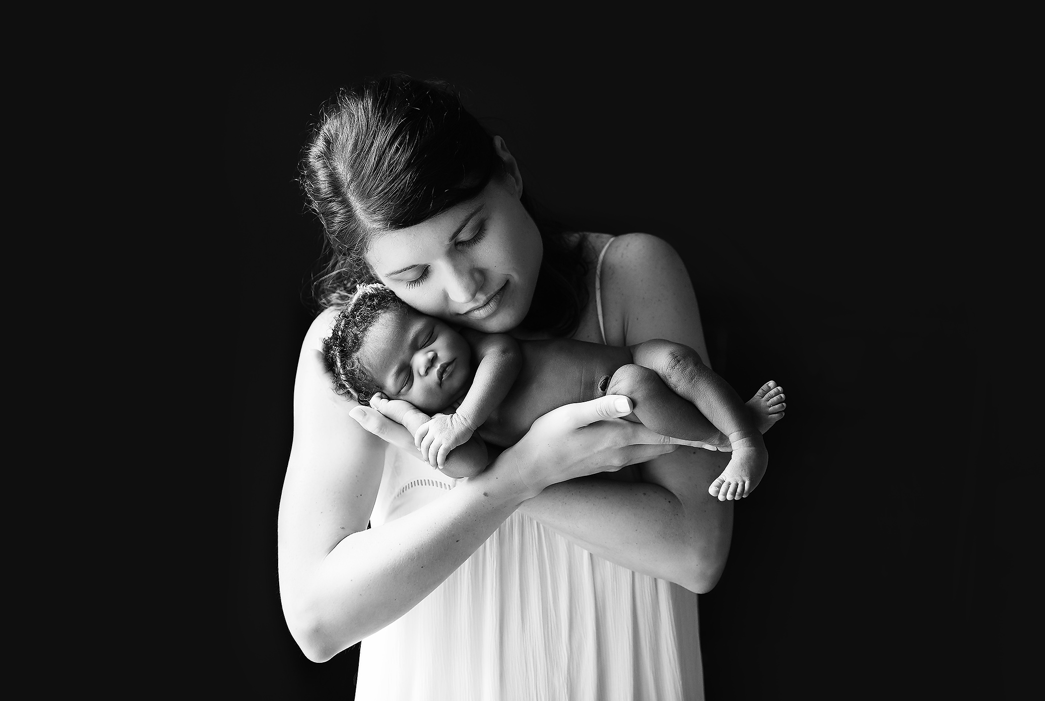 mother and daughter newborn photo